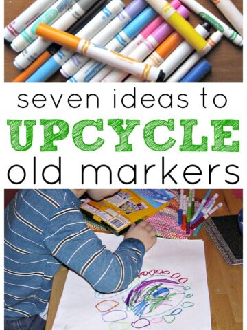 Ideas to upcycle and reuse old dried markers.