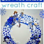 Ring of Snow: Paper Snowflake Wreath Craft