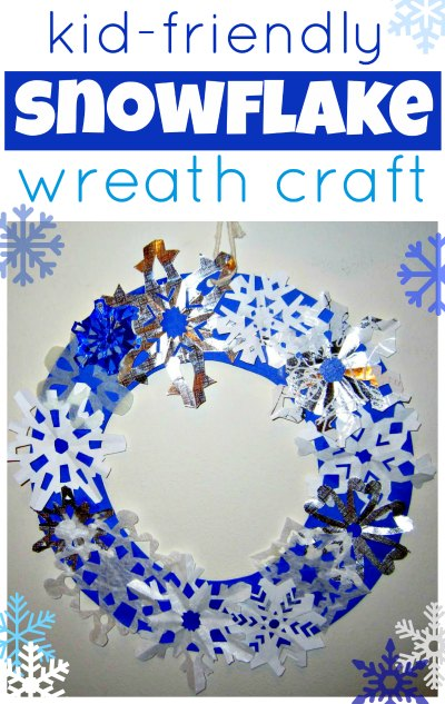 Snowflake wreath - a fun winter craft for kids
