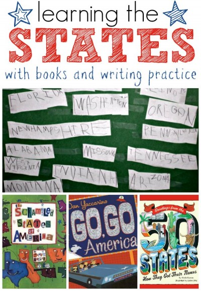 Memorizing the 50 states with self-directed reading and writing practice