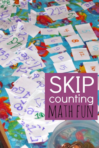 Skip counting can be fun free play for kids