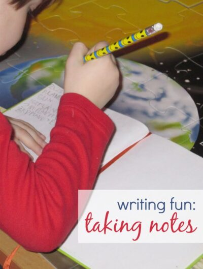 Practice handwriting by taking notes just like Jack in Magic Tree House!
