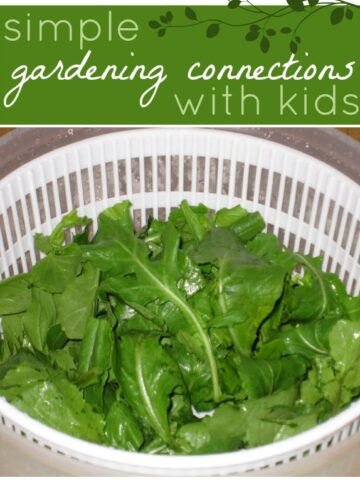 Simple way to share the joy of gardening and growing food with kids.