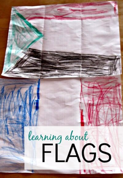 Learning the flags with books and coloring