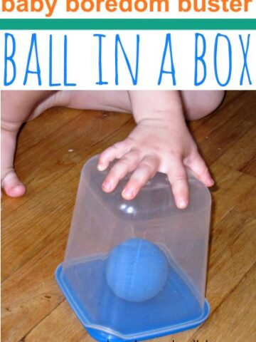 Baby or toddler boredom buster keeps them entertained indoors.