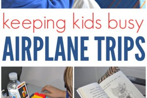 Ideas to keep kids busy on long trips.