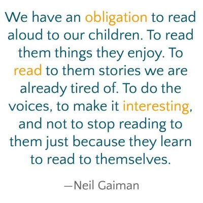 gaiman quote about reading aloud