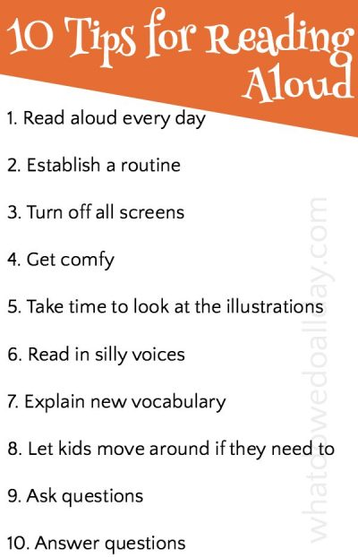 Tips for reading aloud