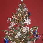 Christmas Tree with Recyclable Decorations