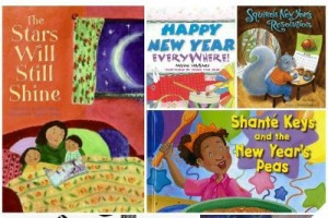 Picture books about New Year's Day traditions and resolutions.