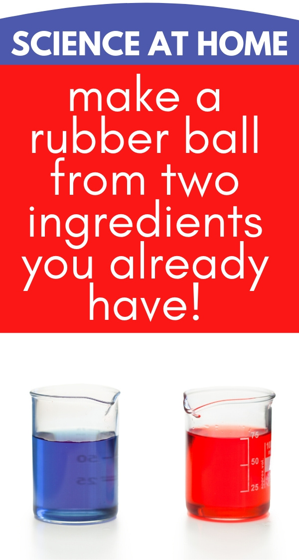 two beakers with red and blue liquid