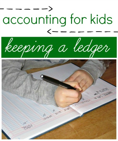 A ledger for kids is a fun way to learn accounting skills.