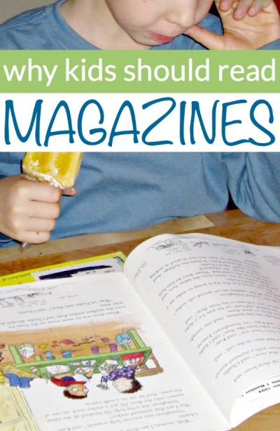 Magazines are good for kids and enhance literacy.
