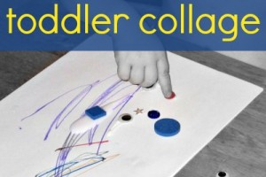 Simple toddler collage art activitiy