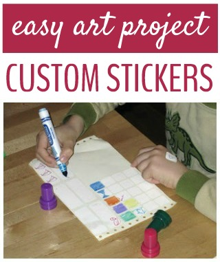 Kids love to make their own stickers