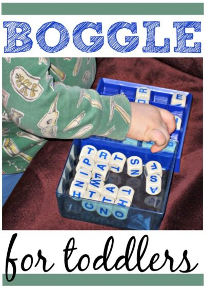 Using Boggle game with toddler or preschoolers