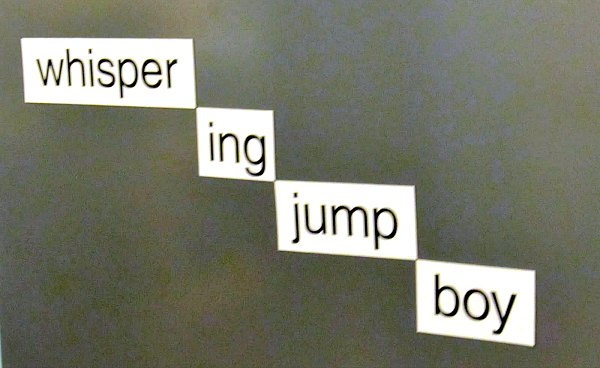 magnetic word wall poetry