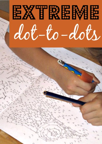 Extreme dot to dot workbooks are great for keeping kids busy.