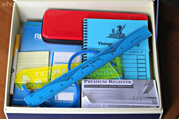 Fill a writing box full of goodies to inspire kids.