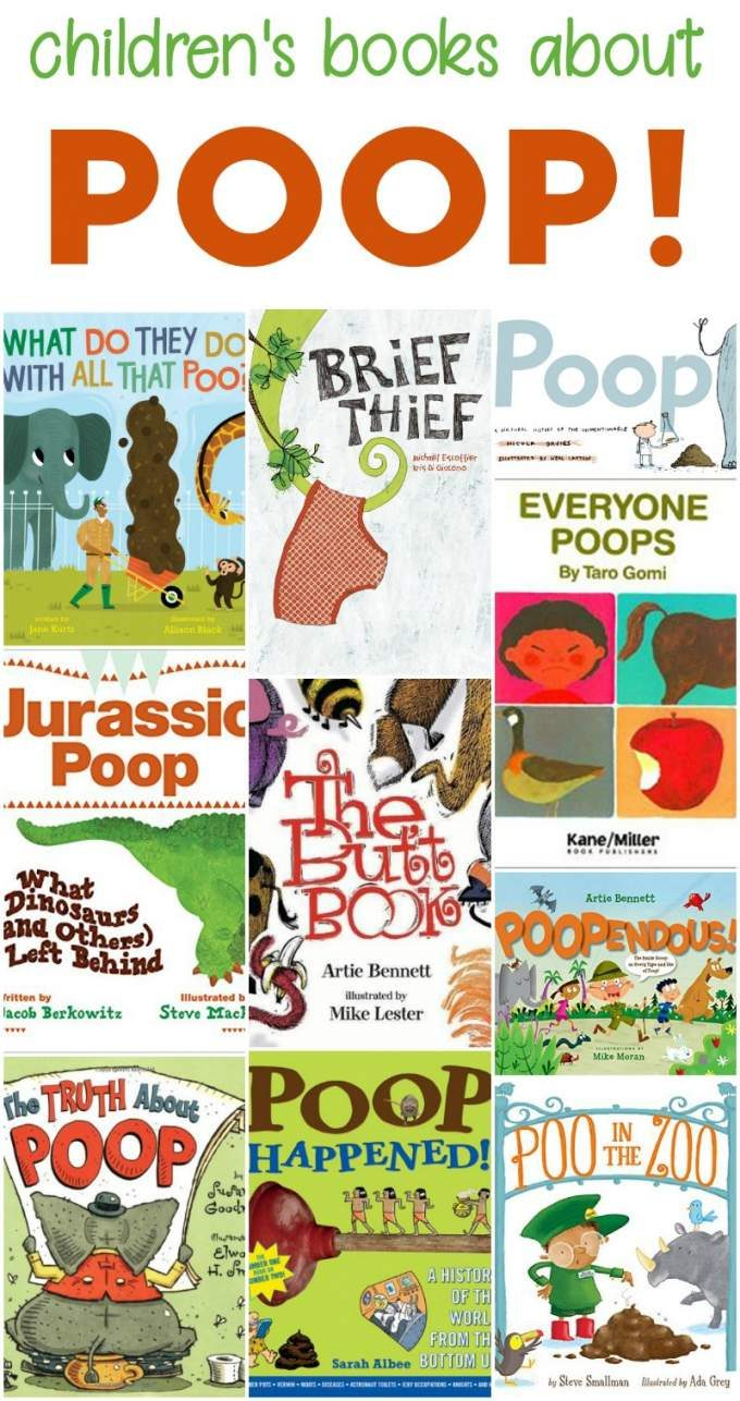 Children's fiction and nonfiction books about poop