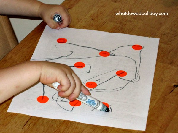 DIY toddler dot to dot