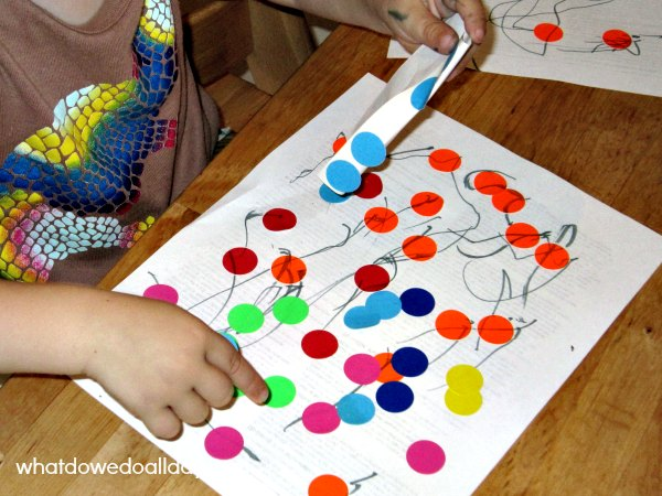 DIY dot to dot for toddlers