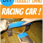 Homemade Rubber Band Racing Car