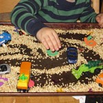 Sensory Tray for Cars {Transportation Tuesday}