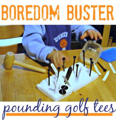 Indoor activity for toddlers: pounding