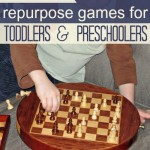 Repurposing Older Kid Games for Toddlers and Pre-Schoolers