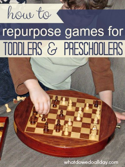 Repurposing games for fine motor, literacy and counting work