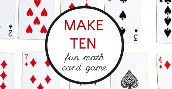 How to play the math card game, make 10.