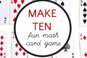 Fun Math Card Game: Make 10