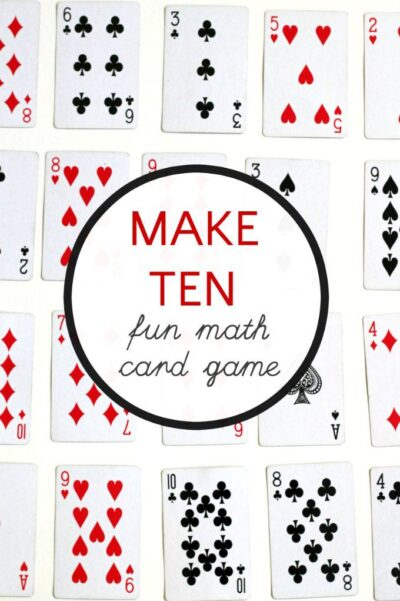 fun math card game ways to make 10