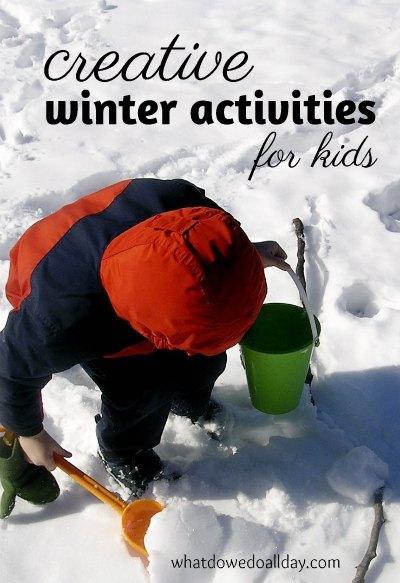 Creative winter activities for kids