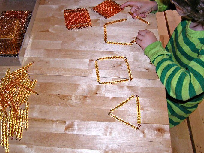creating shapes with ten bead bars