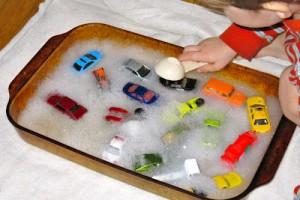 Bubble Bath Toy Car Wash