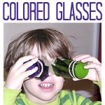 Cellophane Craft: Colored Glasses