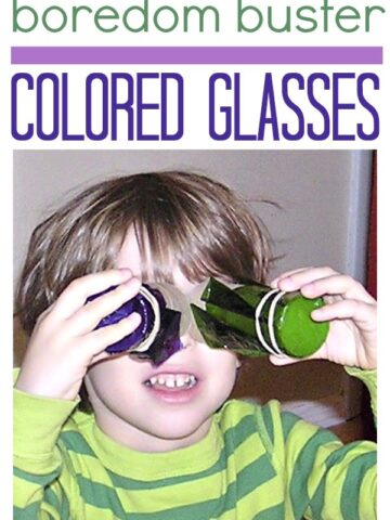 Toddler and preschool activity :: make colored glasses out of cellophane