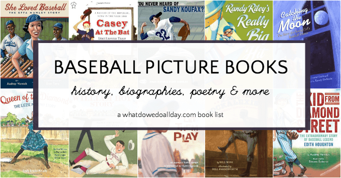 Baseball picture books for kids