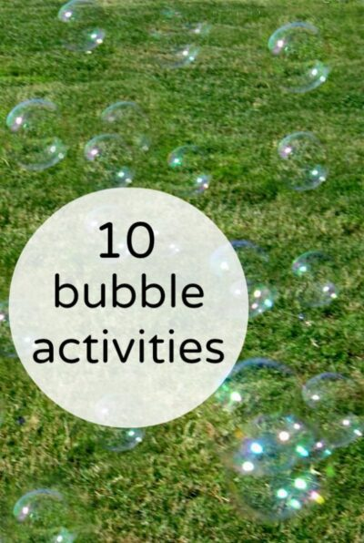 Bubble activities for kids. Ideas to keep summer fun interesting.