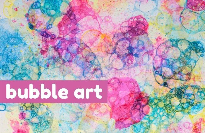 multicolored bubble art