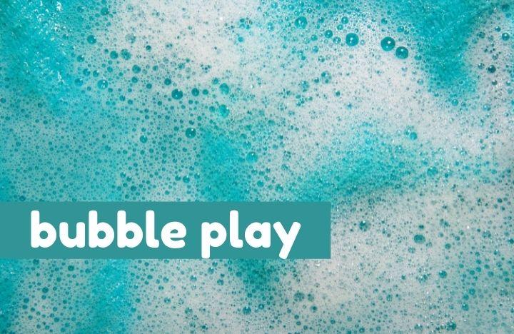 blue bubbles bubble play