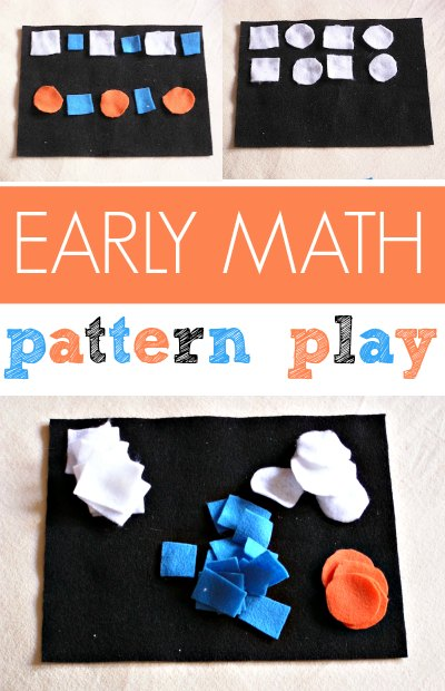 DIY felt pattern play kit is a great preschool math activity