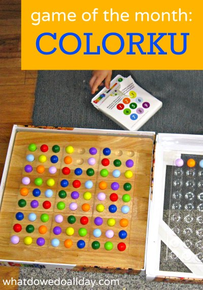 Colorku game is a twist on Sudoku