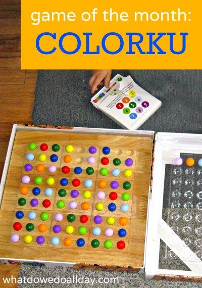 Colorku game is a twist on Sudoku