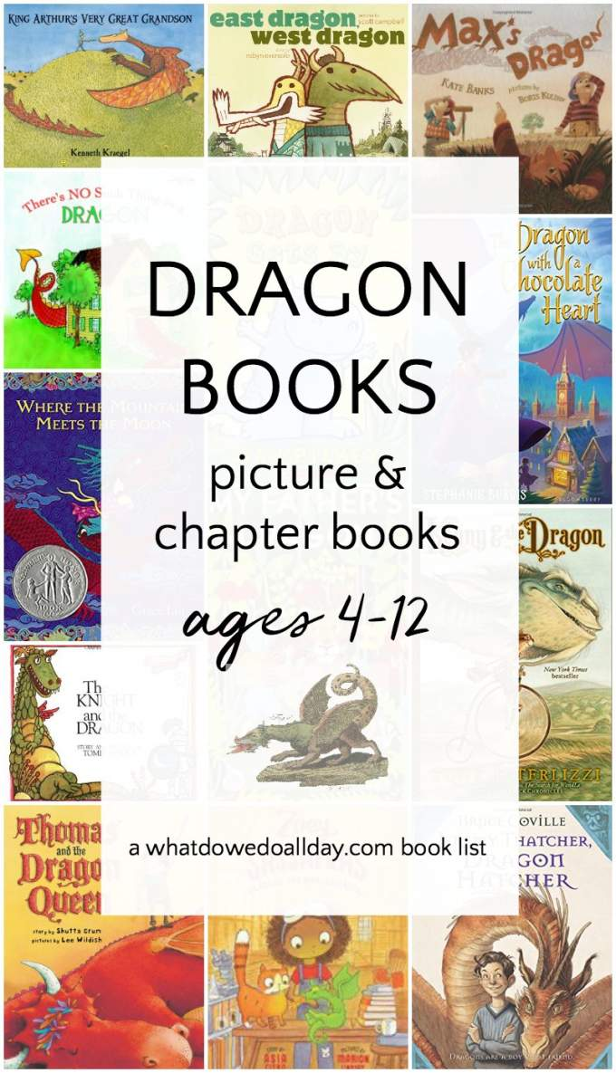 Dragon picture and chapter books for kids