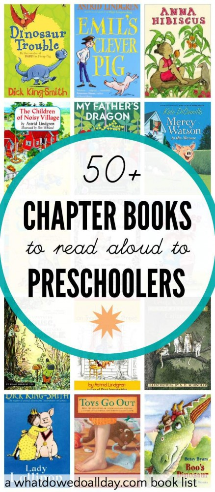 List Of Preschool Chapter Books Suitable To Read 3 And 4 Year Old Kids