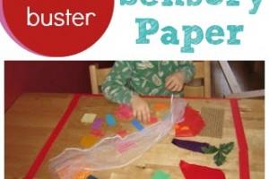 Boredom Buster: Toddler Sensory Paper