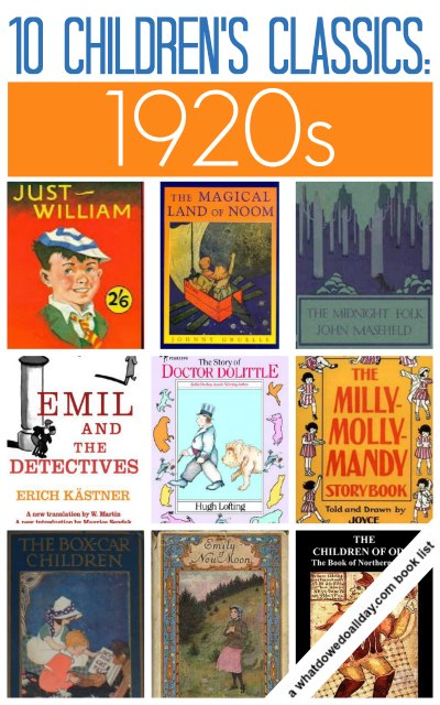 1920s classic children's books for kids and families